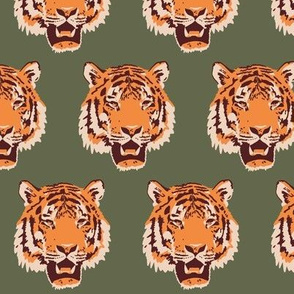 Timothy the Tiger in forest green (small)