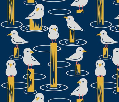 Gulls fabric by tangolikeamango on Spoonflower - custom fabric