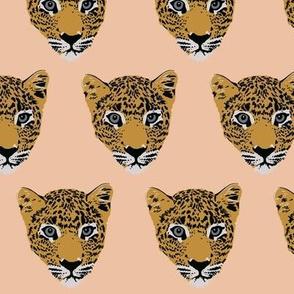 Leroy the Leopard on peach (small)