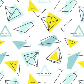Triangles green yellow