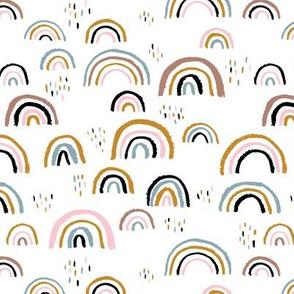 Rainbow love Scandinavian abstract rainbow clouds happy rain sky pink girls JUMBO