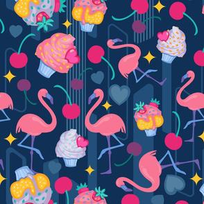Cupcakes and Flamingos