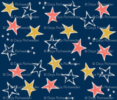 Limited Color Palette Stars