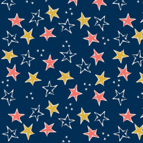 Limited Color Palette Stars