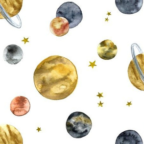 Watercolor Planets