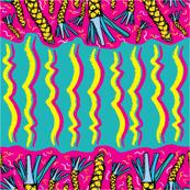 Palm Leaves Stripes _ Bubble Gum