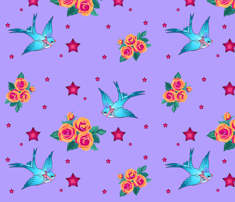 rockabilly fabric by kimi_compassion on Spoonflower - custom fabric