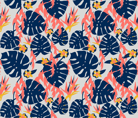 Tropical Jungle - Limited Palette fabric by lisakling on Spoonflower - custom fabric