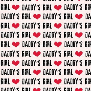 Daddy's Girl - valentines day fabric - pink - C19BS