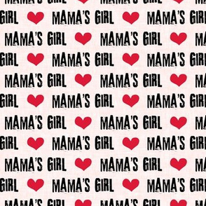 Mama's Girl - valentines day fabric - pink - C19BS