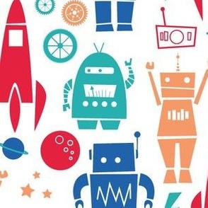 Rockets N' Robots White