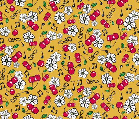 Rockabilly Cherries fabric by louisemargaret on Spoonflower - custom fabric