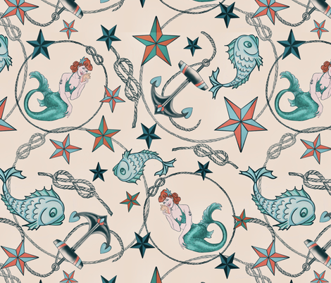 Hey sailor fabric by amyjacobusdesign on Spoonflower - custom fabric