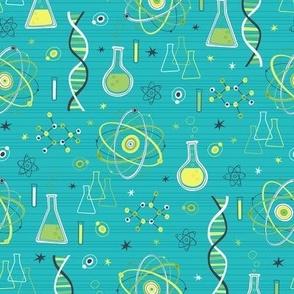 Midcentury Modern Science (Blue & Green)