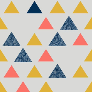 Triangle pattern - living coral