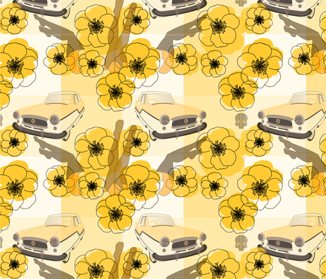 Rock-A-ButterCoup(v.BDOLcS.1) fabric by katonthewalk on Spoonflower - custom fabric