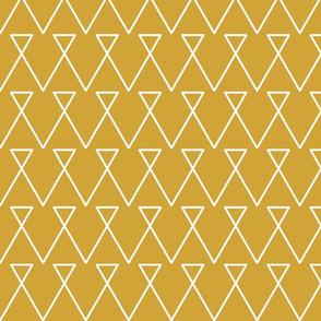 Geometric Yellow Triangle Lines