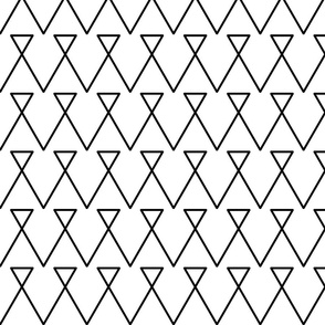 Geometric Black and White Triangle Lines