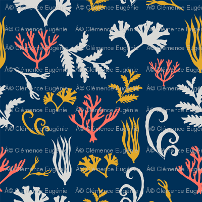 Seaweed and coral