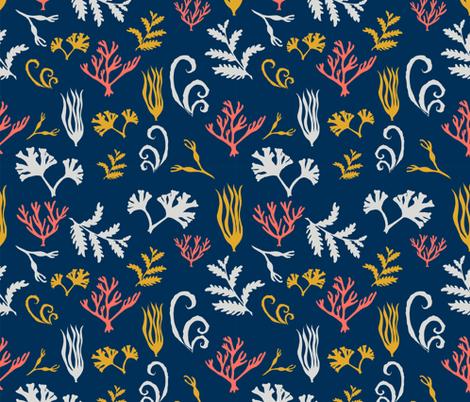 Seaweed and coral fabric by clémence_eugénie on Spoonflower - custom fabric