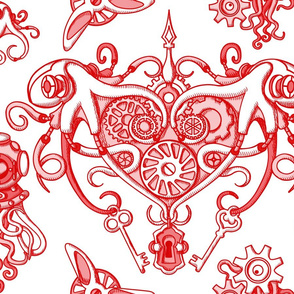 OCTOPUS in Love white red