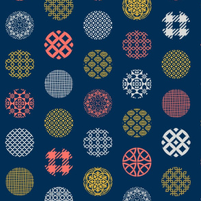 Ornament Dots Living Coral Limited