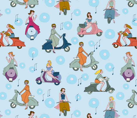 vespa rock fabric by hanneke_binnen on Spoonflower - custom fabric