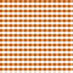 MINI gingham - burnt orange gingham, longhorn, summer