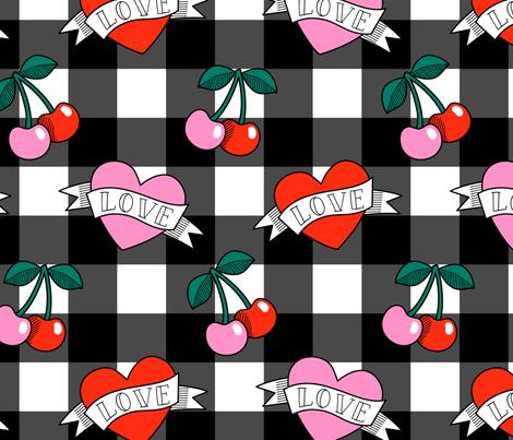 rockabilly 4 fabric by laura_may_designs on Spoonflower - custom fabric