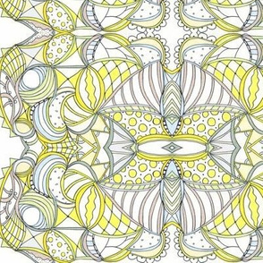 yellow corset