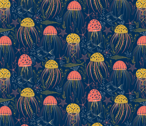 Under the sea fabric by ray7an_art on Spoonflower - custom fabric