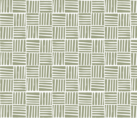 thatch fabric - hand printed fabric, linocut home decor fabric, stripes fabric, grid fabric, - artichoke fabric by andrea_lauren on Spoonflower - custom fabric