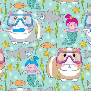 guinea-pigs-sharks and mermaids