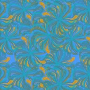 Blu 80s flower