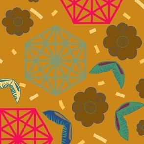 Hexagon desert lands