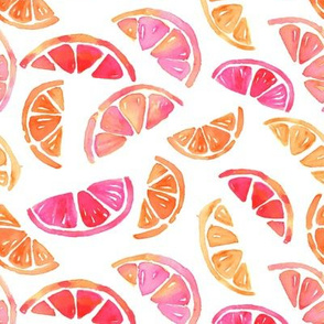 Hand Painted Watercolor Pattern - Citrus Slices