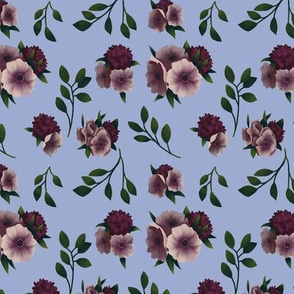Anemone Periwinkle Floral