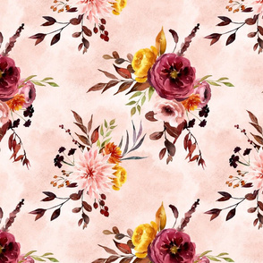 Autumn Floral Dusty Pink