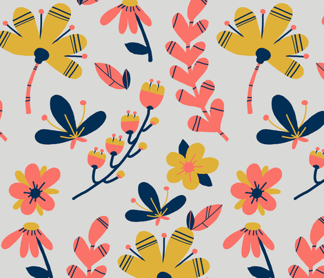 CORAL 2 fabric by a_gagui on Spoonflower - custom fabric