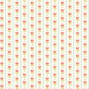 watercolor hearts with aqua strips