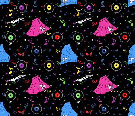 50's Sock Hop fabric by bdarbydesigns on Spoonflower - custom fabric