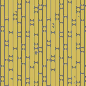 Bold Dashed Stripes // 2-Color // Nature Theme