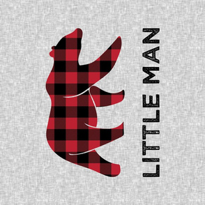 Minky Fat Quarter - Little Man - Bear  C19BS