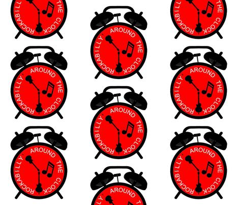 Rockabilly Around the Clock by kedoki fabric by kedoki on Spoonflower - custom fabric