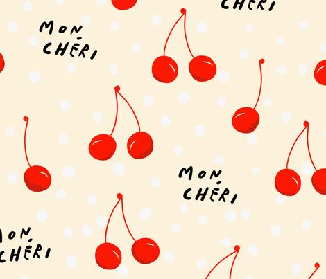 Polka Dot Cherry fabric by yellowprints on Spoonflower - custom fabric