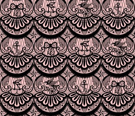 Frilly Rockabilly fabric by nanshizzle on Spoonflower - custom fabric