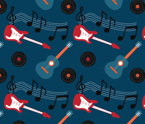 Guitar Rock fabric by whyitsme_design on Spoonflower - custom fabric