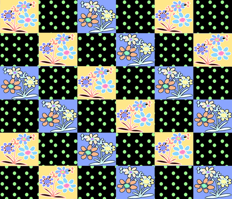 ROCKABILLY SQUARE DANCE TWO fabric by soobloo on Spoonflower - custom fabric