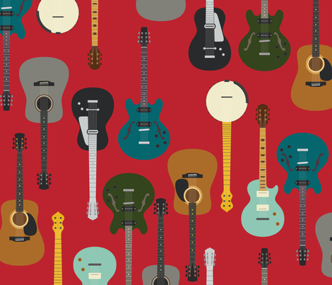 Country, Bluegrass, Rock-n-Roll fabric by katerhees on Spoonflower - custom fabric