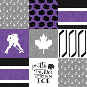 Women's Hockey//Canada//Pretty & Nice//Purple - Wholecloth Cheater Quilt